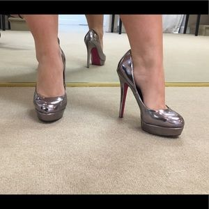 Pewter Platform Heels